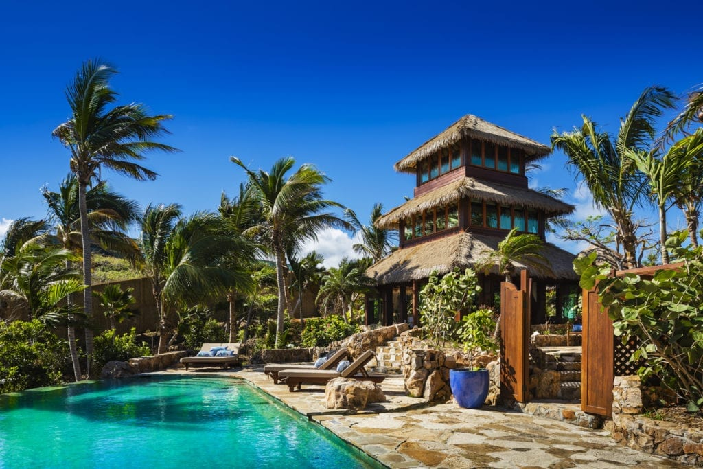 Bali Lo and Pool Necker Island British Virgin Islands Caribbean