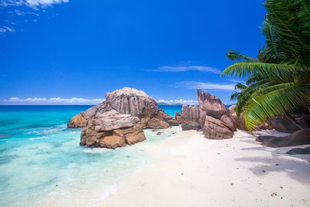 Picturesque beach in the Seychelles