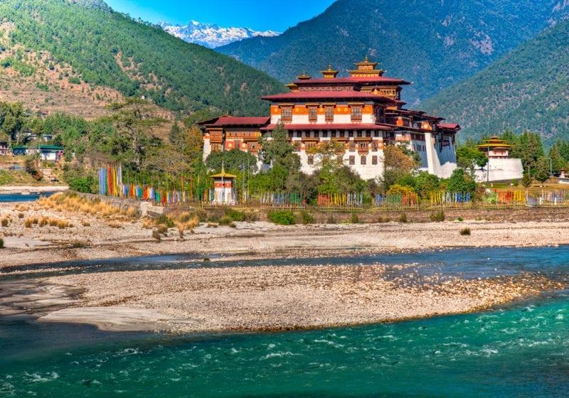 Bhutan Monastry in the Mountains