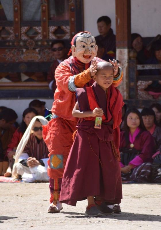 Monks at Punakha Monastery Bhutan