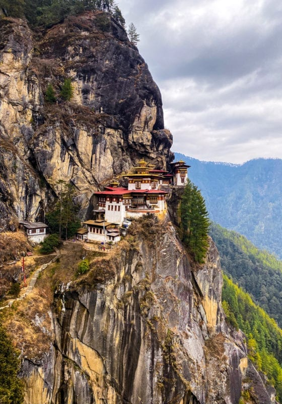 Bhutan Tigers Monastery in the Mountains