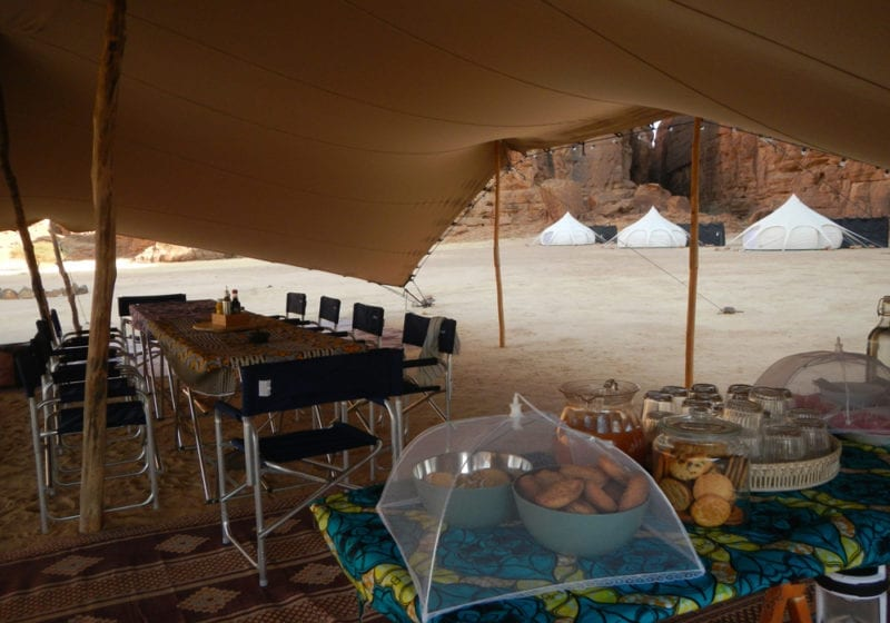 Camp Warda Tented Breakfast in Chad