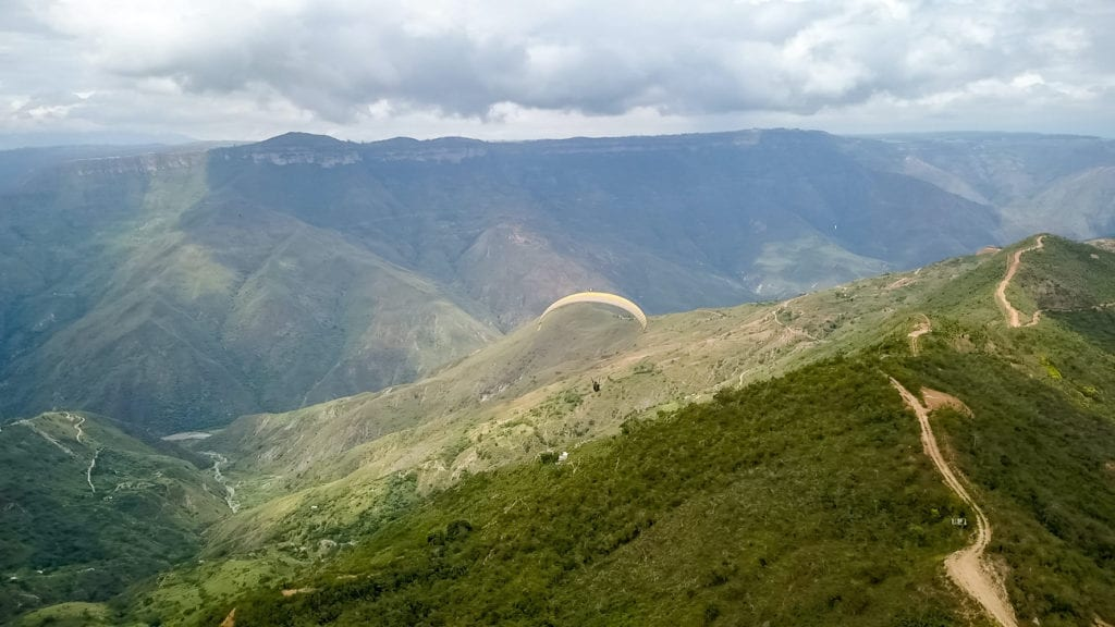 Colombia Paragliding Canyon