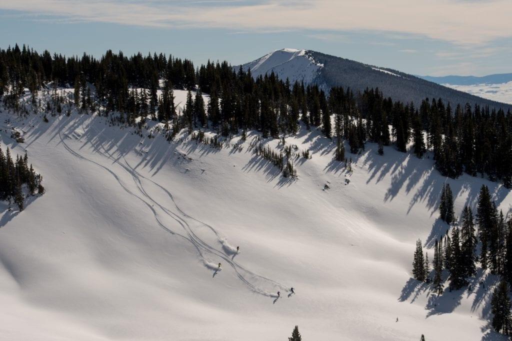 Colarado Cat Skiing of Piste Powder Carving USA