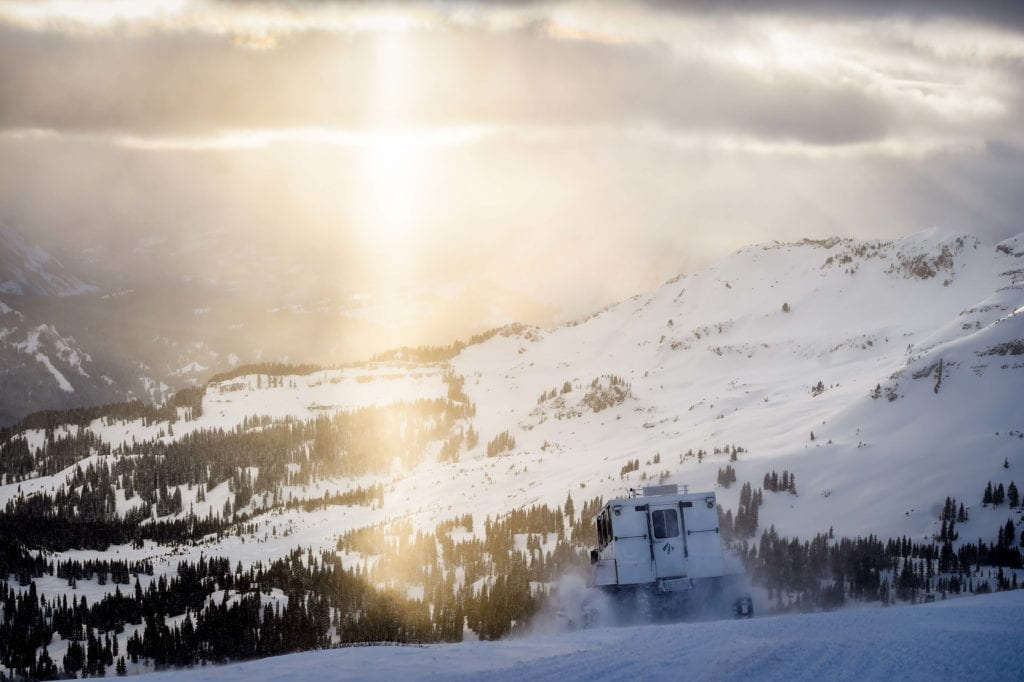 Sunset Cat Skiing in Colorado USA