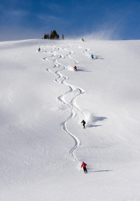 Colorado Skiing Carving Powder