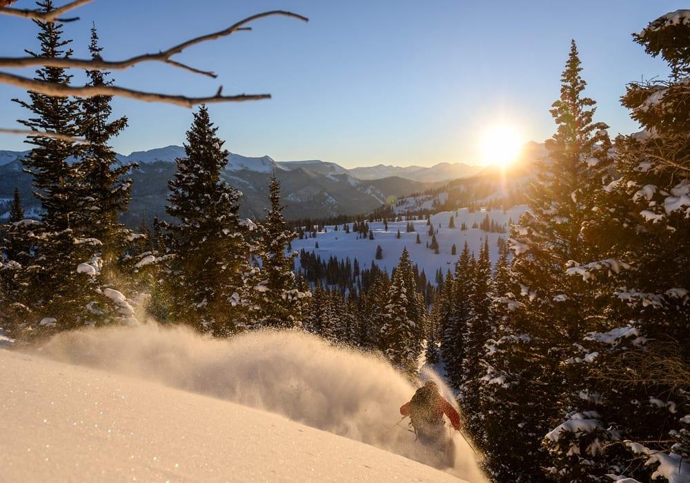 Colorado Skiing Forest Sunshine USA