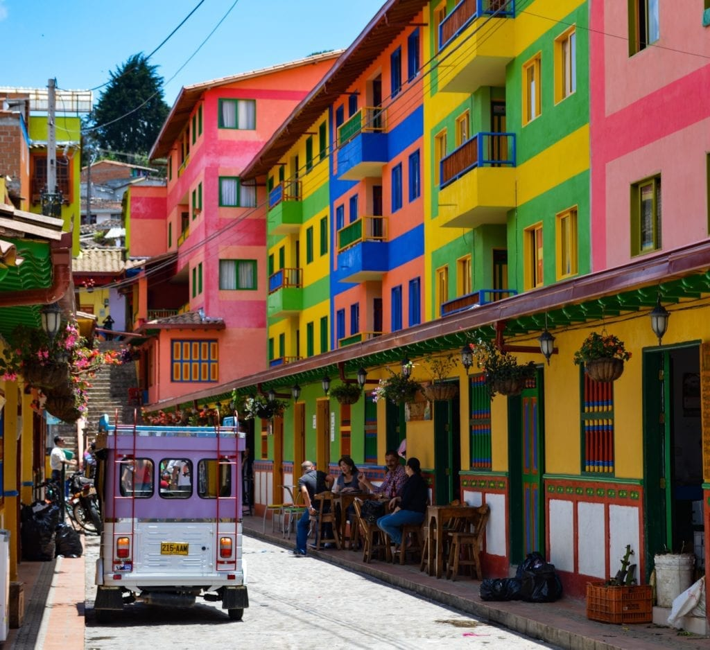 vibrant colours of Colombia evident in this city image