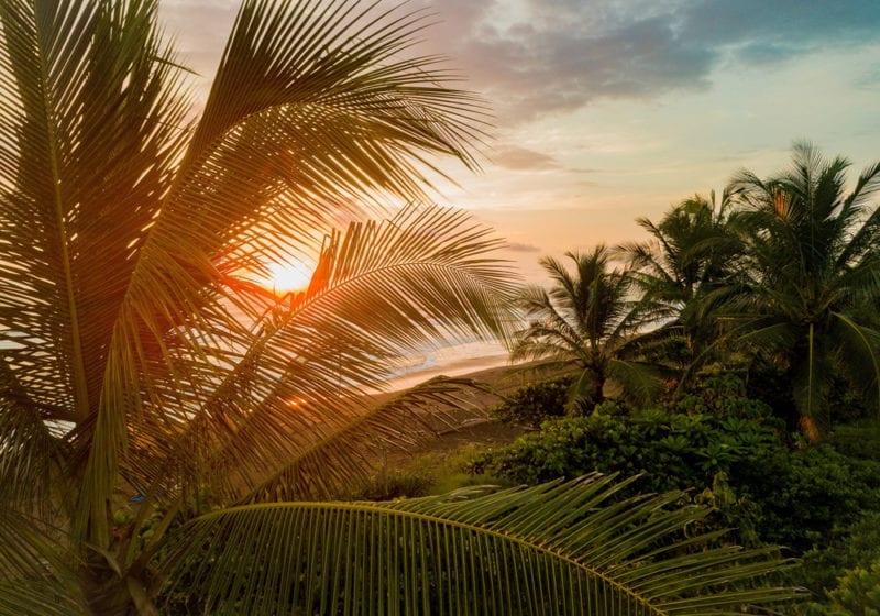 Costa Rica Sunset on the beach