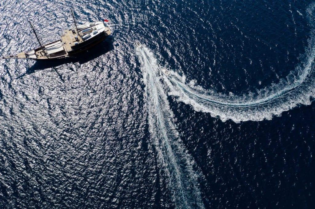 Aerial image of Dunia Baru and a jet ski