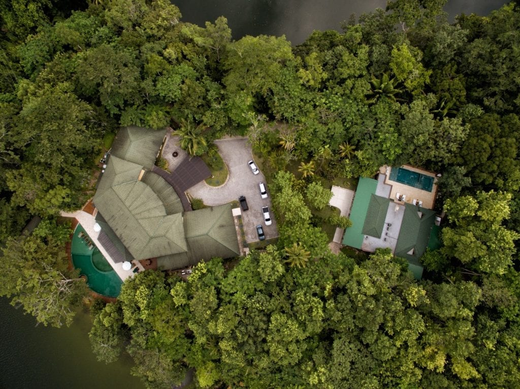 Las Lagunas Aerial View of Jungle and Property Guatemala
