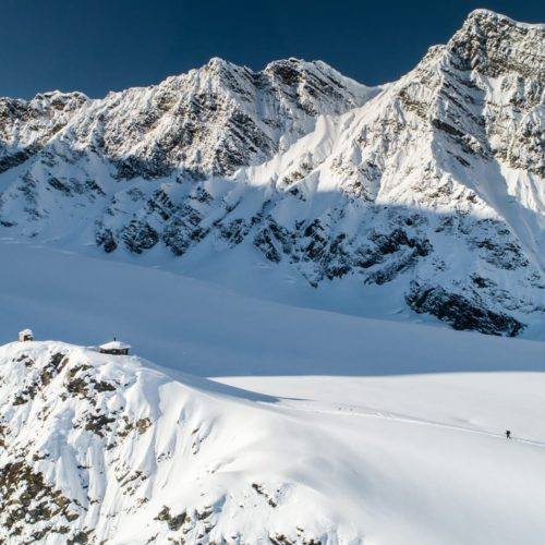 Backcountry skiing in Denali, Alaska