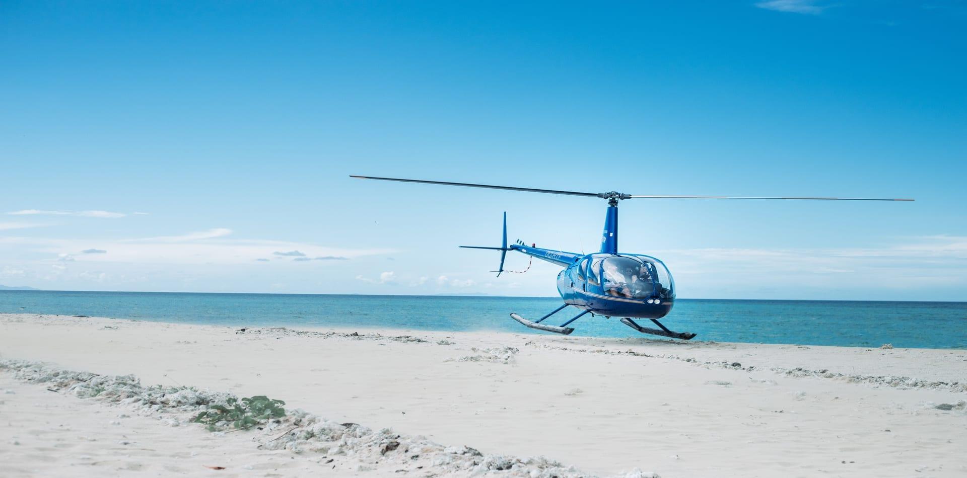 Hero Fiji Heli Landing Beach