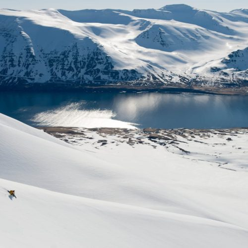 Hero Iceland Skiing Mountains and Sea