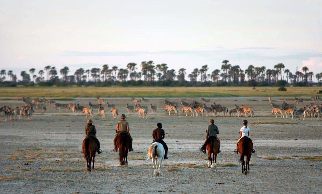 Horse riding safari through the pans, Botswana