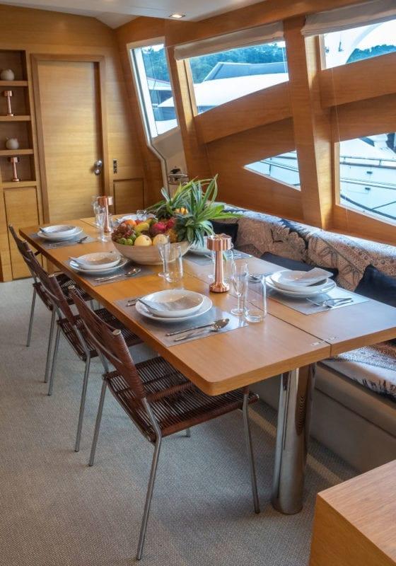 Interior dining area on Hummingbird