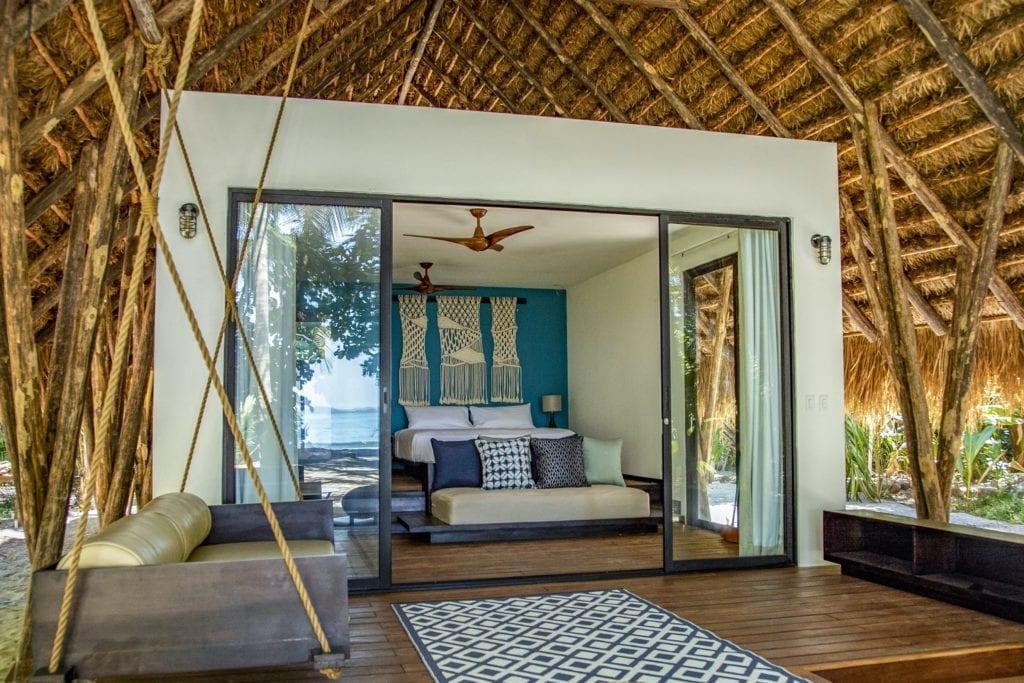 Isla Palenque beach bungalow interior
