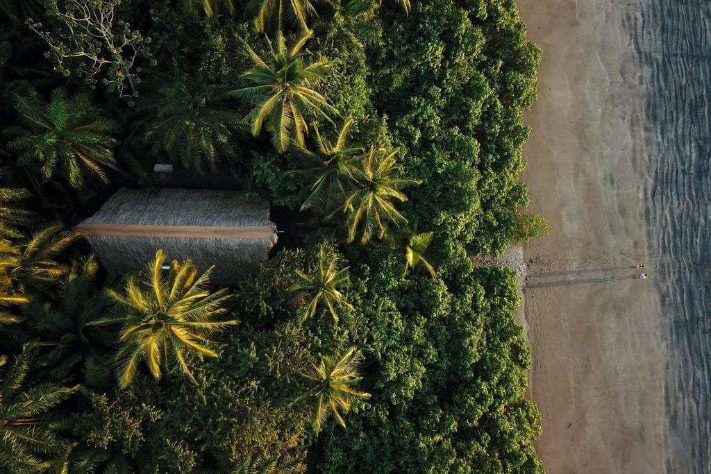 Panama Isla Palenque aerial shot