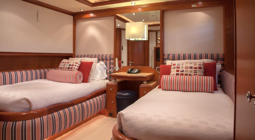 Twin bedroom on Jo