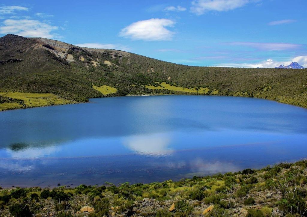Sapphire coloured Lake Alice, Kenya