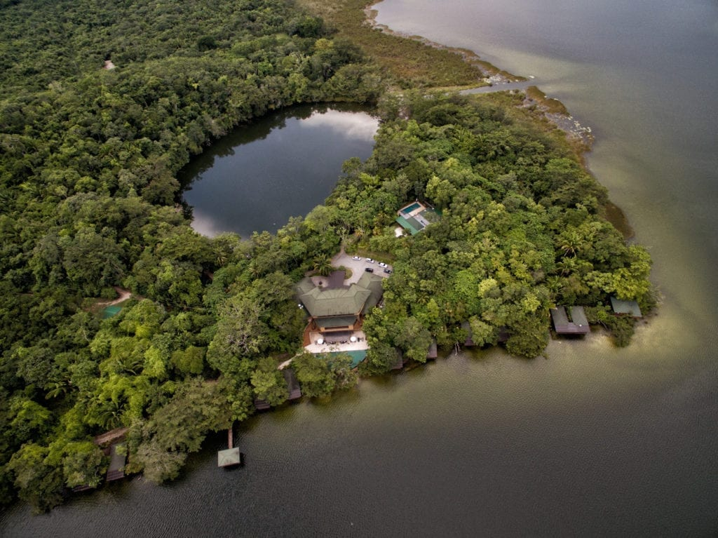 Las Lagunas Aerial View Jungle and Resort Guatemala