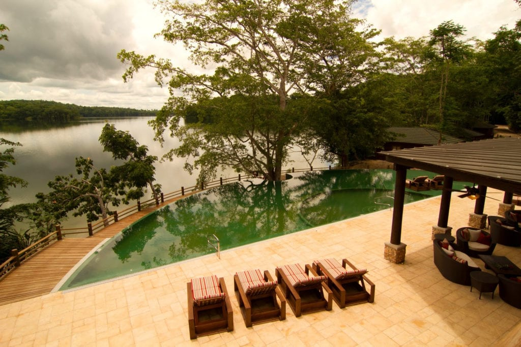 Pool and Lagoon View Las Lagunas Guatemala