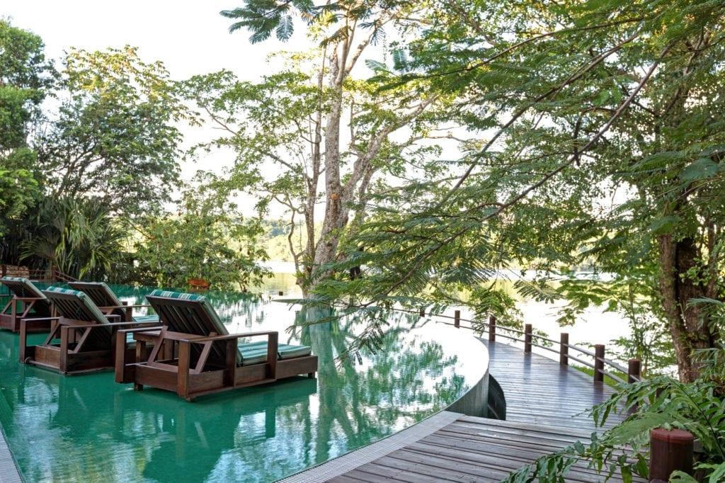 Las Lagunas Poolside Lagoon Exterior Jungle Guatemala