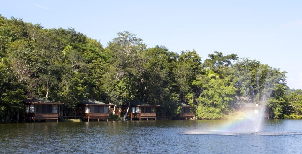 Waterfront Villa Exterior on Lagoon at Las Lagunas Guatemala