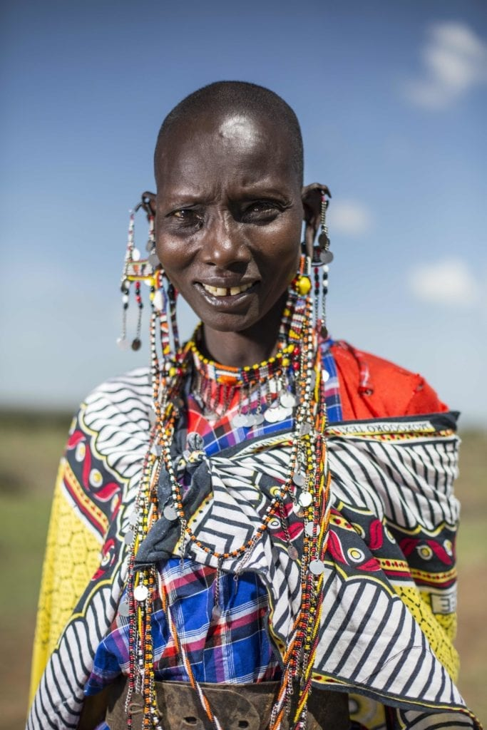 Tribal woman from the Maa Trust cultural visit