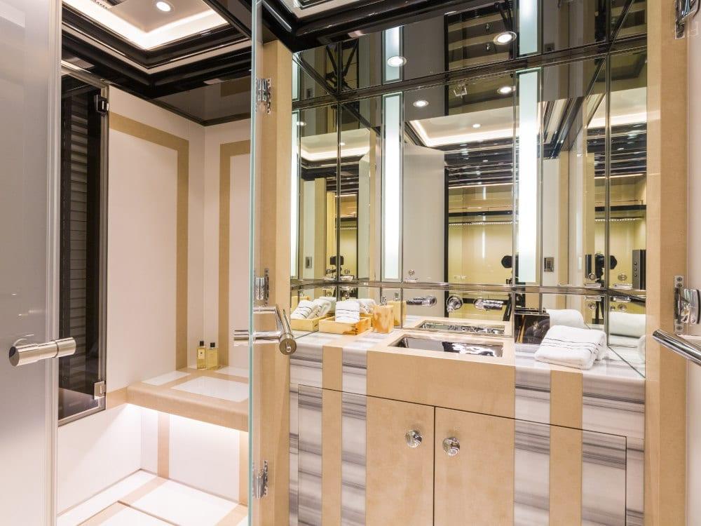 Sleek bathroom on board Okto