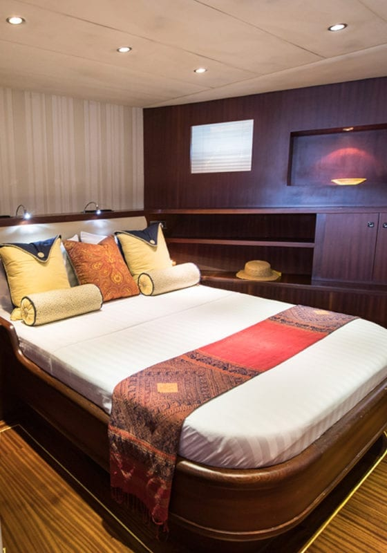 Comfortable double bedroom on the Orient Pearl