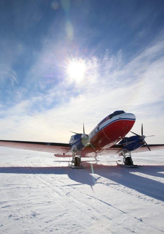 Private jet in Antarctica