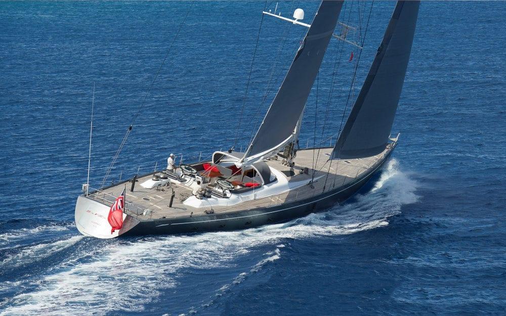 Silvertip sailing through calm waters