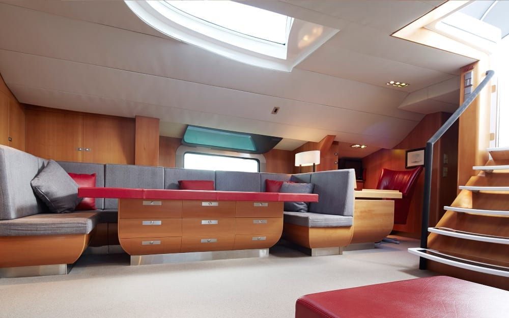 Seating in Silvertip's interior lounge space