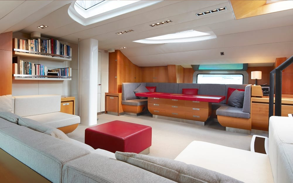 Seating in Silvertip's interior lounge