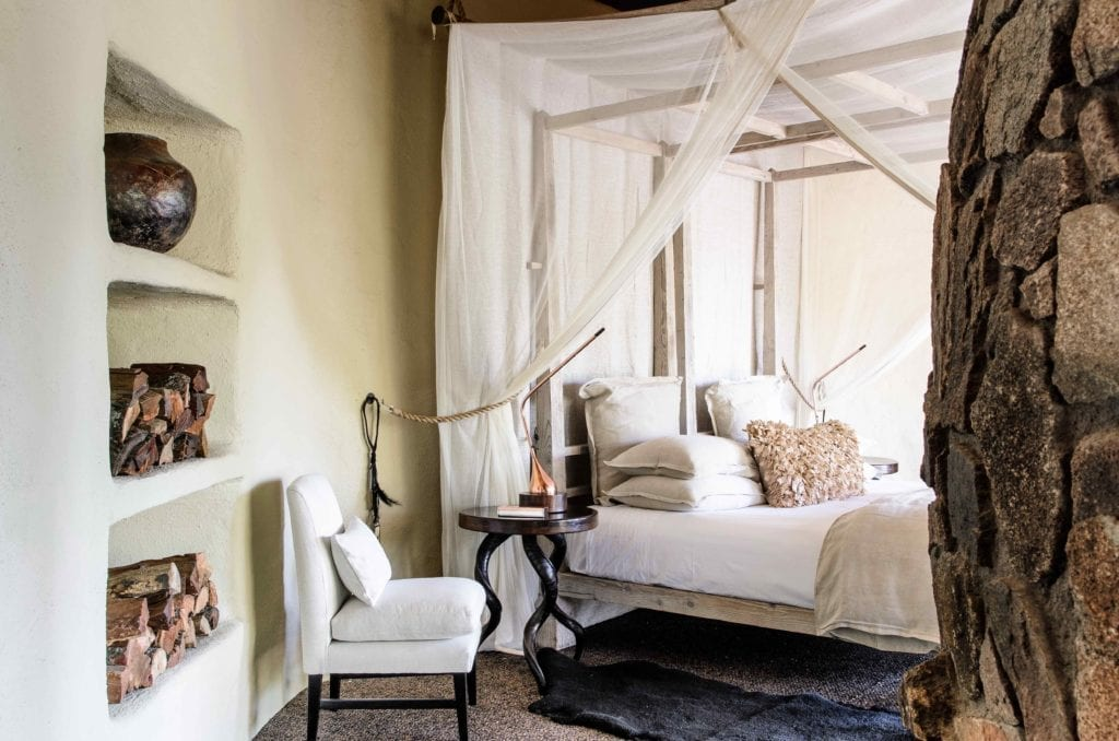 Singita Boulders Lodge bedroom interior