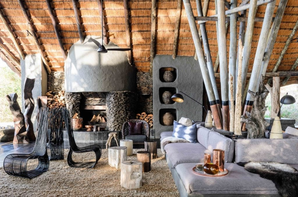 Singita Boulders Lodge lounge