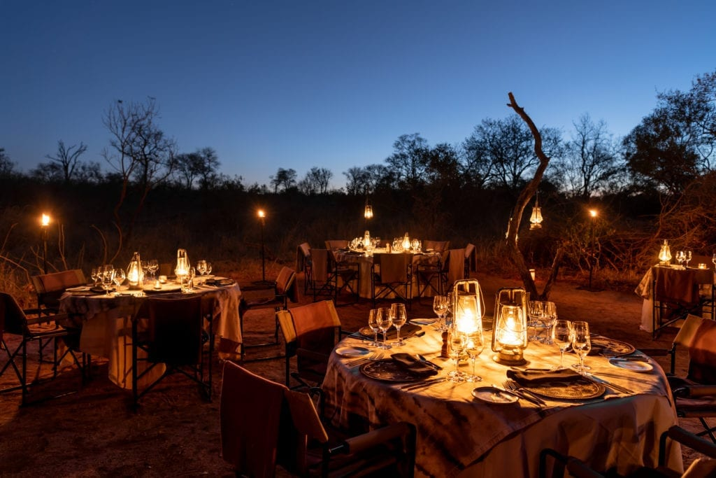 Singita Boulders Lodge outdoor dining