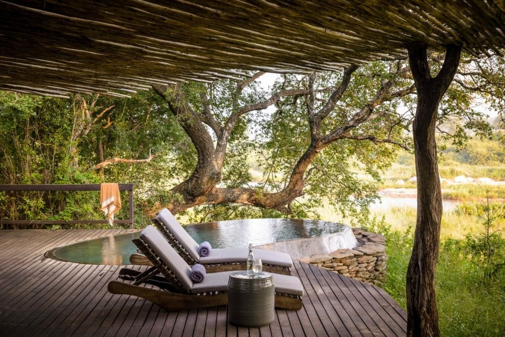 Singita Boulders Lodge plunge pool