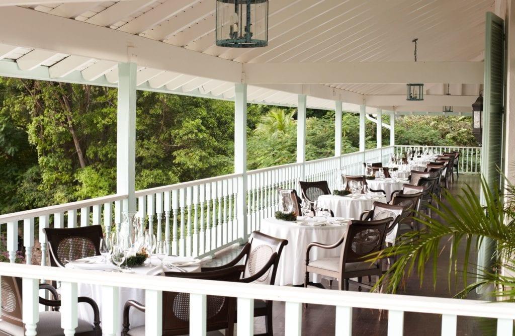 dining terrace sugar beach st lucia