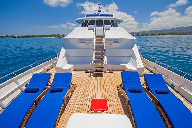 Tip Top IV yacht upper deck