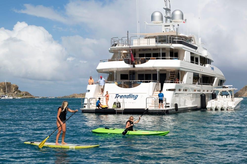 Kayaking and paddleboarding