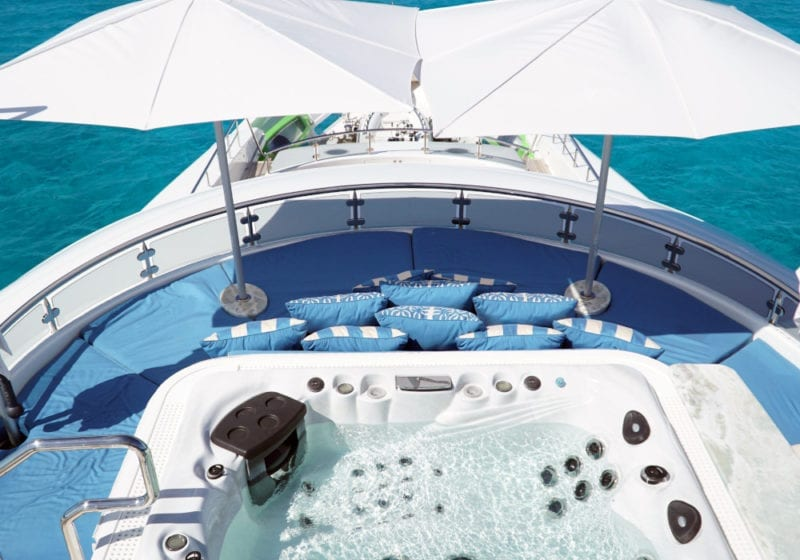 Jacuzzi and seating