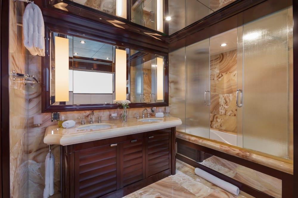 Luxury bathroom on board Trending
