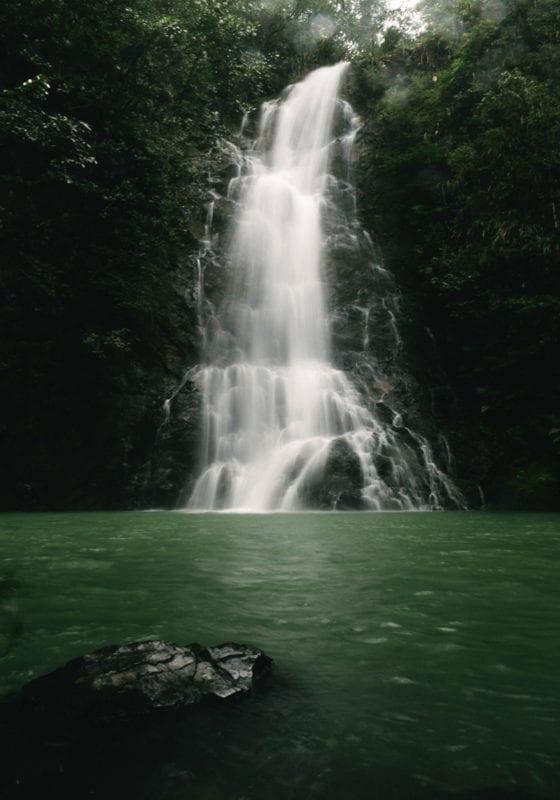 Waterfall in Belize Jungle
