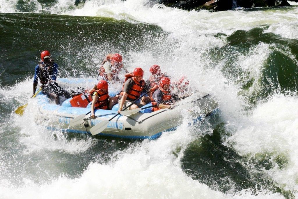 white water rafting, Victoria Falls
