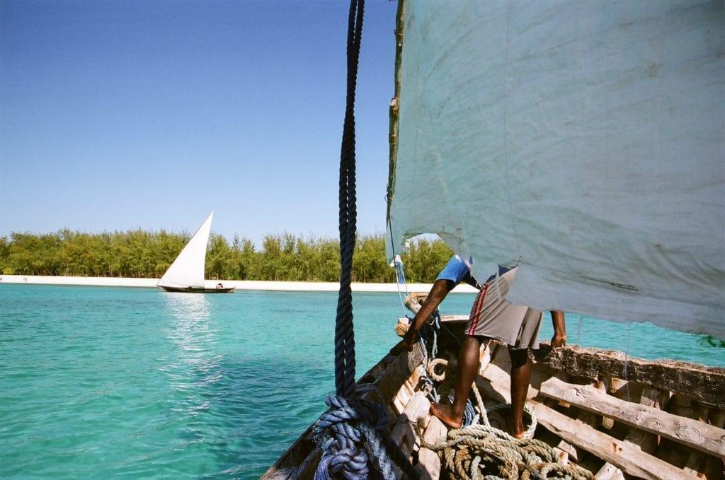 Sailing an authentic boat in Zanzibar