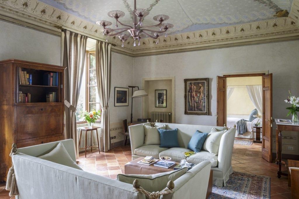 Borgo Pignano Villa Suite Marchese Living Room Interior Tuscany Italy