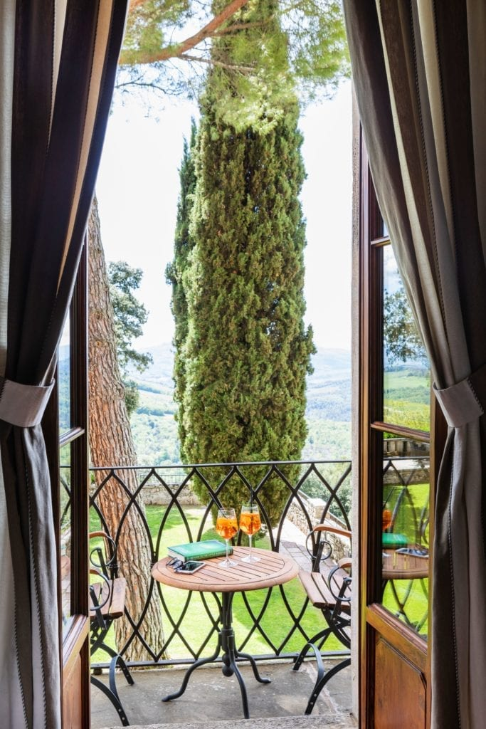 Borgo Pignano Villa Suite Marchese View and Balcony Tuscany Italy