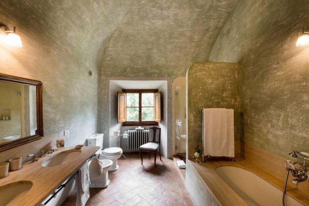 Borgo Pignano Large Villa Bathroom Interior Tuscany Italy